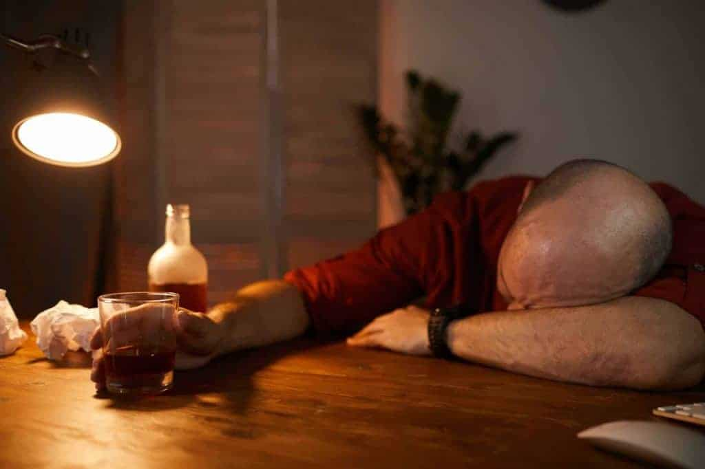 Man sleeping at the table